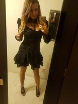 Halsey. Czarna koronkowa sukienka ze stójką | Sklep z
